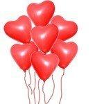 7 Adet Kalp Uçan Balon